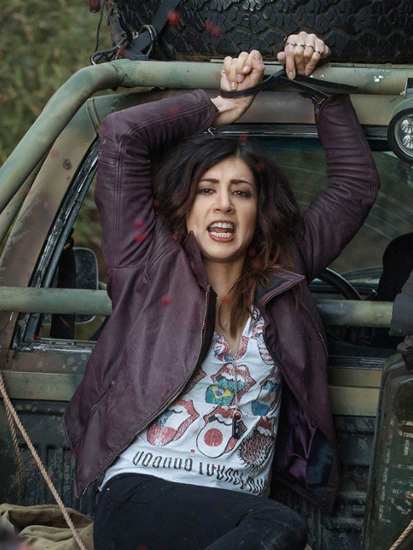 Ash Vs Evil Dead Dana DeLorenzo Maroon Leather Jacket