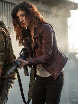 Ash Vs Evil Dead Dana DeLorenzo Maroon Leather Jacket