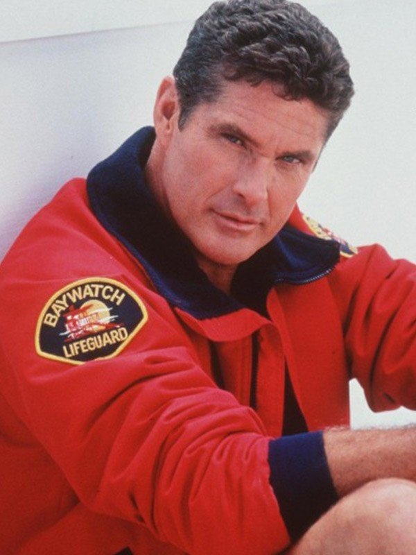 Baywatch The Mentor Red Bomber Jacket