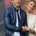 Blue Ryan Reynolds Leather Jacket