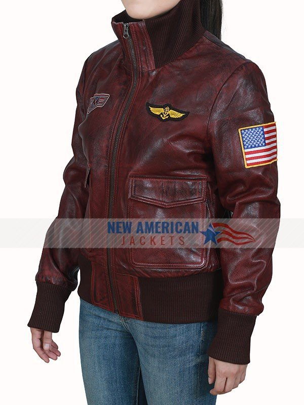 Brie Larson Captain Marvel Brown Bomber Leather Jacket
