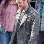 Captain Marvel Robert Kazinsky Distressed Leather Jacket