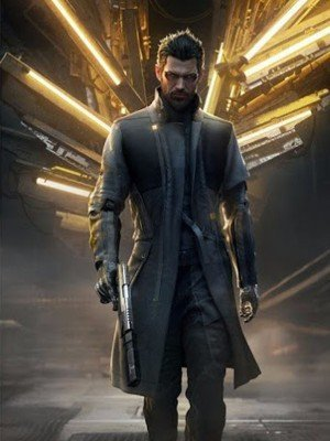 Deus Ex Mankind Divided Adam Jensen Black Trench Coat
