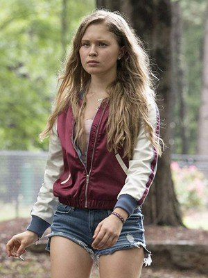 Amma Crellin Sharp Objects Eliza Scanlen Satin Jacket
