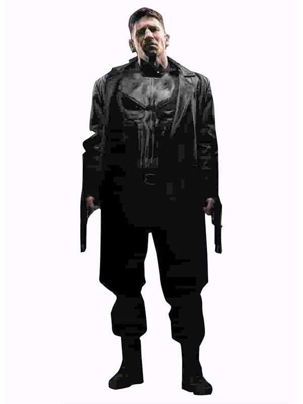 Frank Castle The Punisher John Bernthal Leather Coat