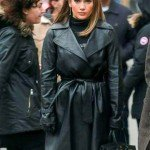 Jennifer Lopez Second Act Maya Vargas Leather Coat