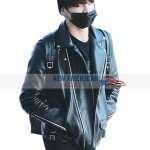 Jungkook Black Leather Jacket