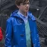 Klaus Baudelaire Blue Leather Coat
