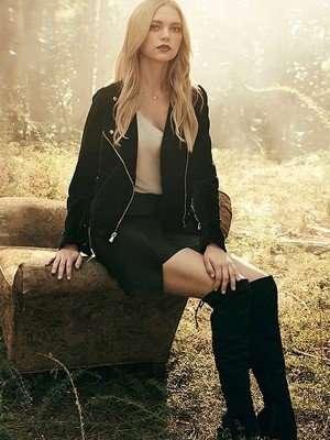 Lizzie Saltzman Legacies Black Leather Jacket