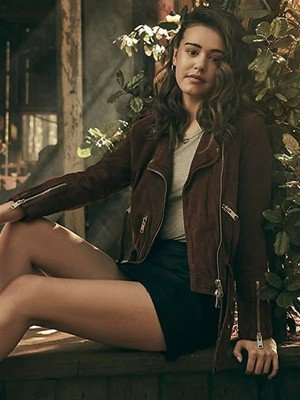 Josie Saltzman Legacies Suede Leather Jacket