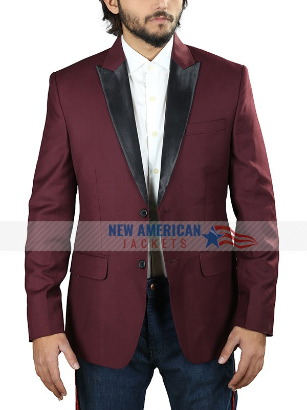 Maroon Tuxedo Suit