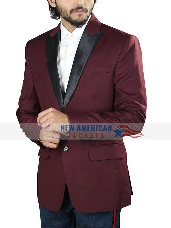 Mens Maroon Tuxedo