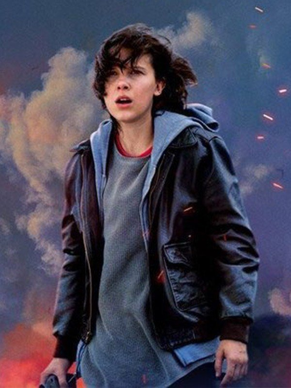 Millie Bobby Brown Godzilla King of the Monsters Black Leather Jacket