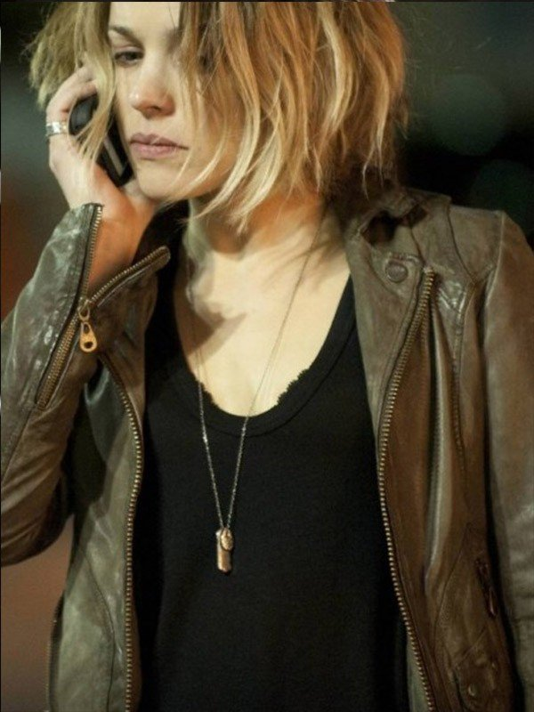 Rachel McAdams True Detective Brown Jacket