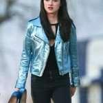 Raffey Cassidy Vox Lux Blue Jacket