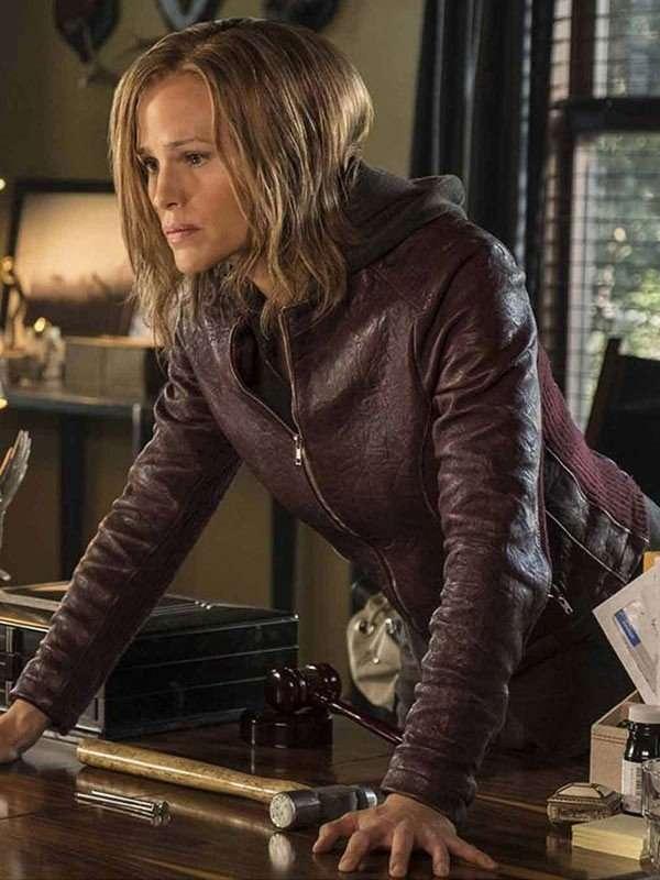 Riley North Peppermint Maroon Jacket