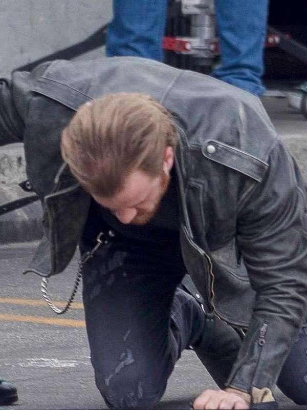 Robert Kazinsky Captain Marvel Black Leather Jacket