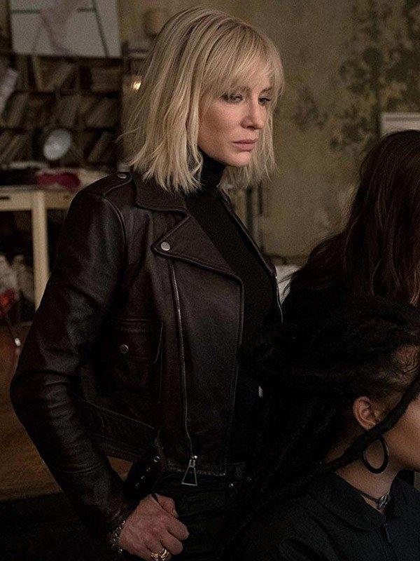Sandra Bullock Oceans Eight Black Leather Jacket
