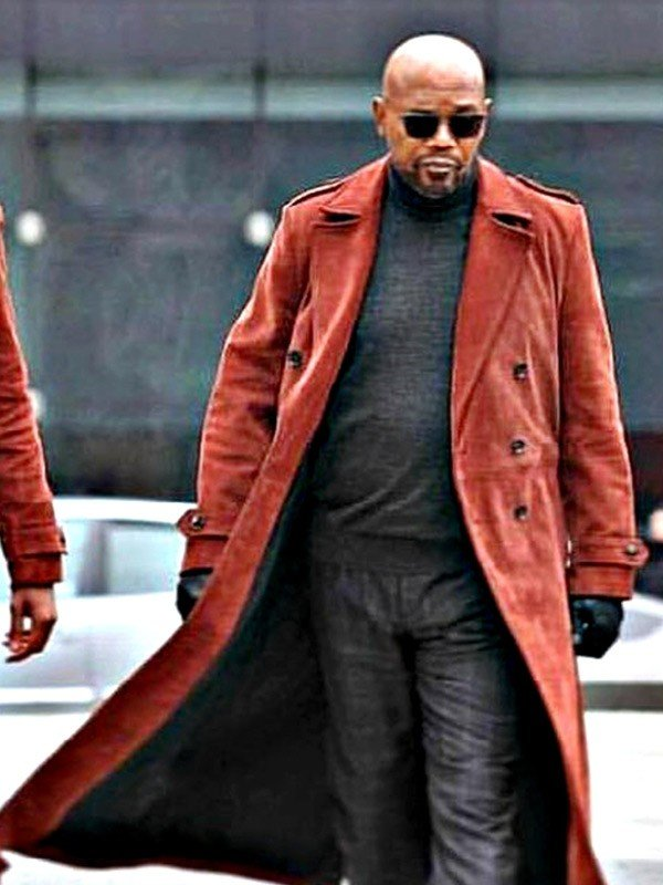 Son of Shaft John Shaft Red Leather Coat