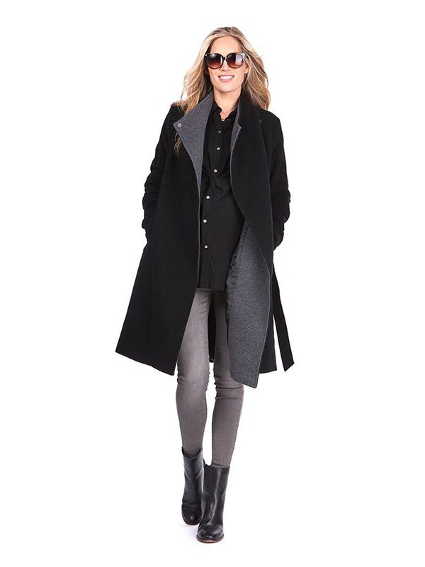 The Young and The Restless Melissa Ordway Black and Grey Coat