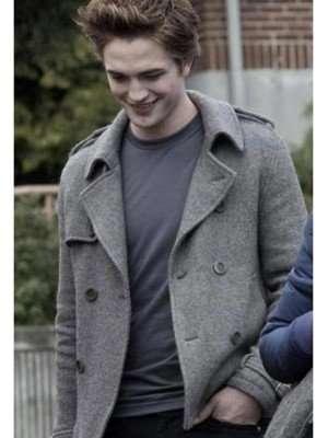 Edward Cullen Twilight Wool Pea Coat