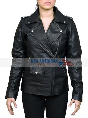 Jessica Jones Bikers Black Leather Jacket for Women