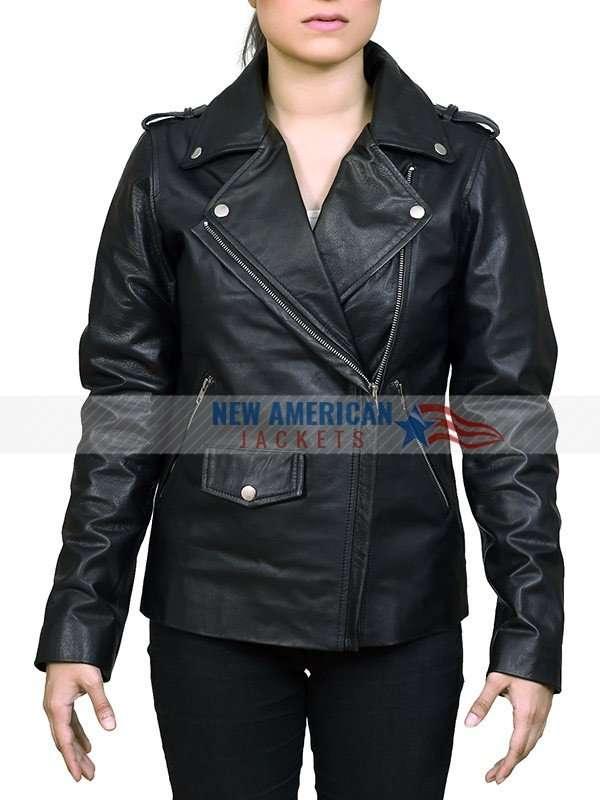 Women Leather Biker Jacket