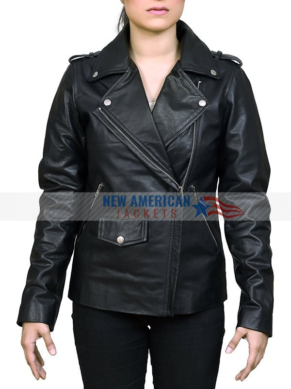d63cf63480d Bikers Black Leather Jacket for Women