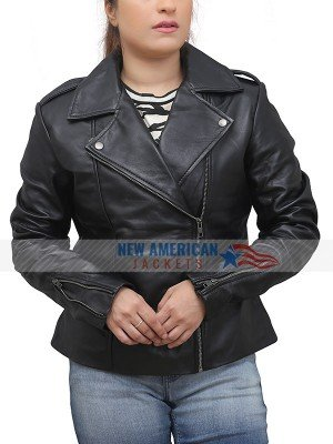 FIGHTING WITH MY FAMILY LEATHER JACKET