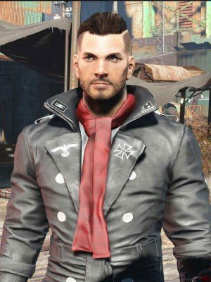 Airship Captain's Belted Black Leather Coat