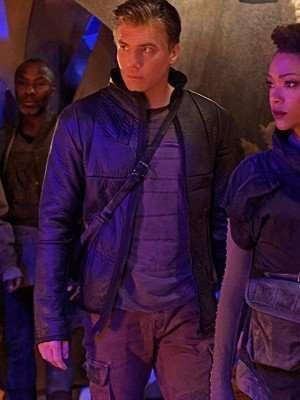 Star Trek Discovery Anson Mount Black Leather Jacket