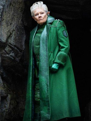 Judi Dench Artemis Fowl Leather Coat