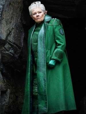 Judi Dench Artemis Fowl Leather Coat