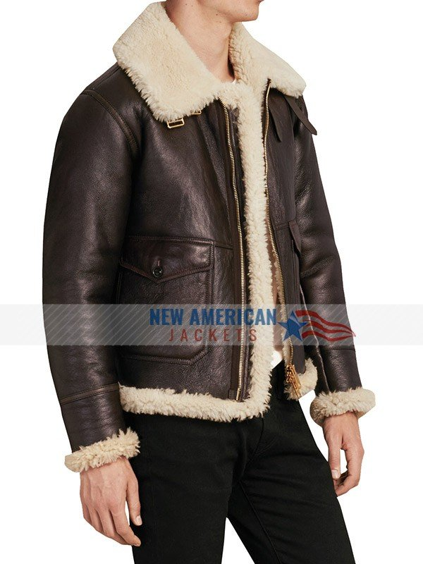 B3 Bomber Aviator sheepskin leather jacket