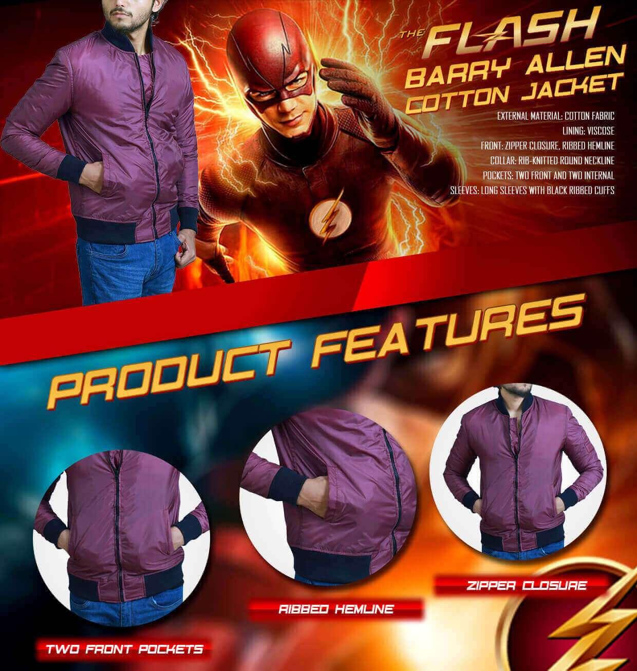 Grant Gustin The Flash Jacket