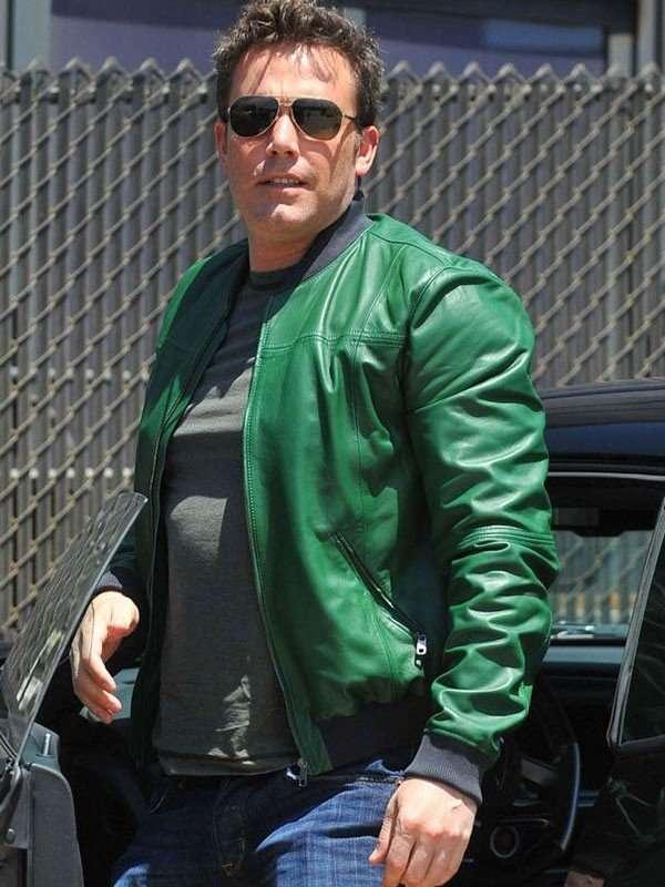 Ben Affleck Men Leather Jacket