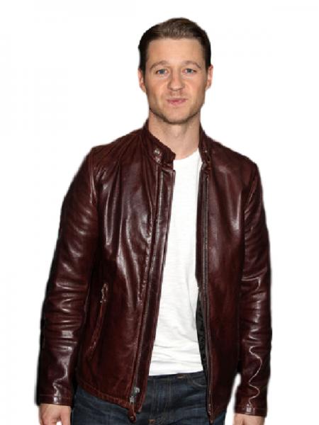 Ben McKenzie Gotham Brown Leather Jacket