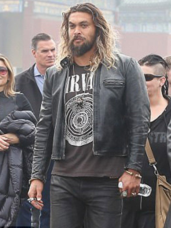 Black Leather Jacket of Jason Momoa