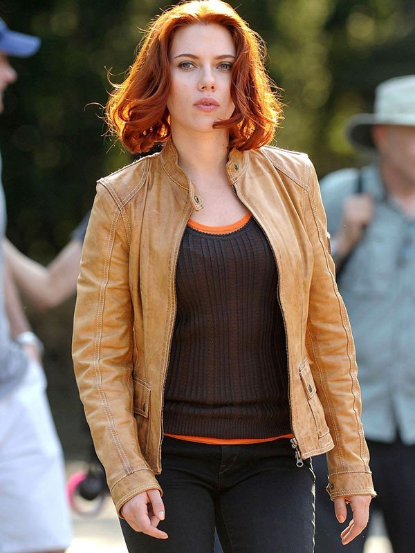 Black Widow The Avengers Leather Jacket