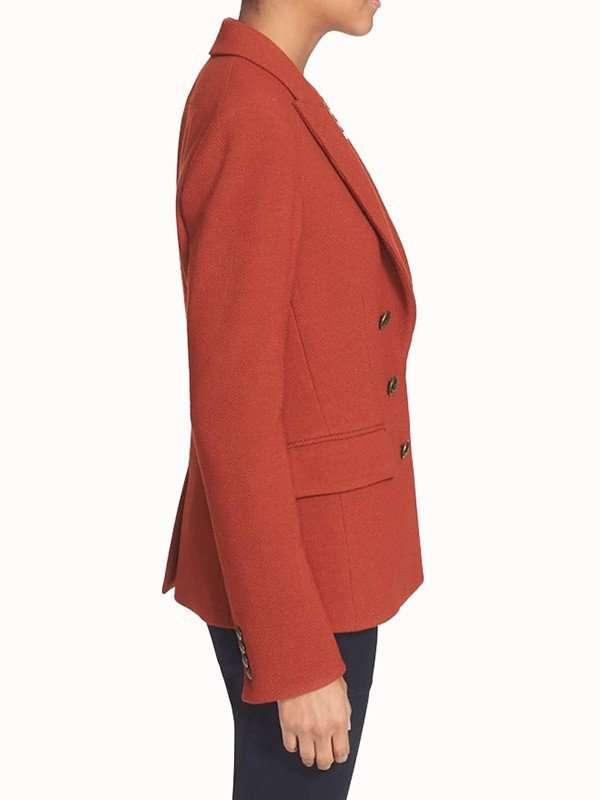Bonnie Winterbottom How to Get Away with Murder Orange Wool Blazer