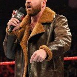 Brown Shearling Dean Ambrose Leather Jacket