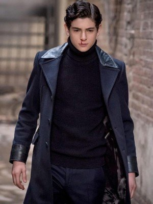 Gotham Bruce Wayne Black Trench Coat