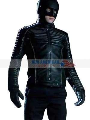 Bruce Wayne Gotham Black Leather Jacket