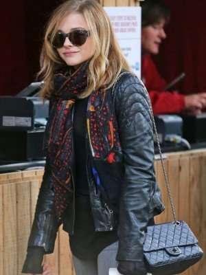 Mia Hall If I Stay Black Leather Jacket