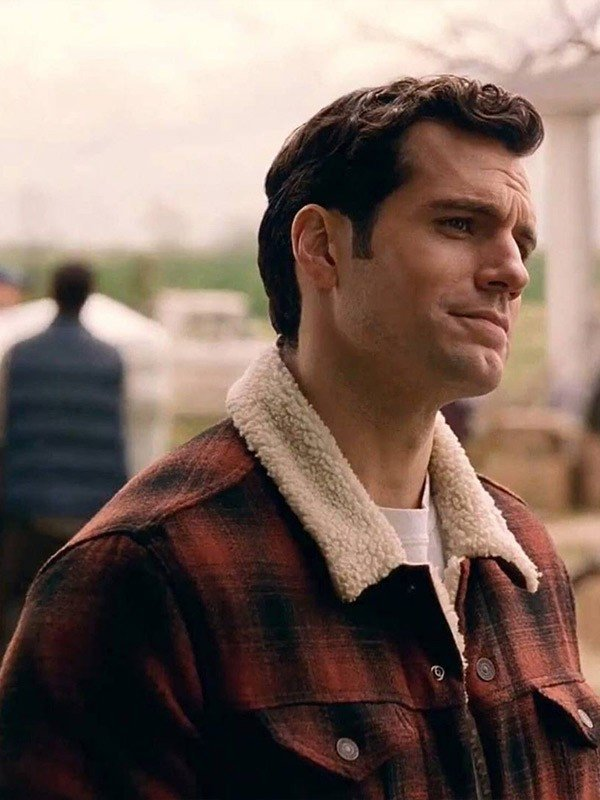 Clark Kent Justice League Henry Cavil Black and Red Jacket