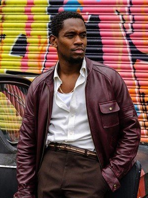 Yardie Aml Ameen Maroon Leather Jacket