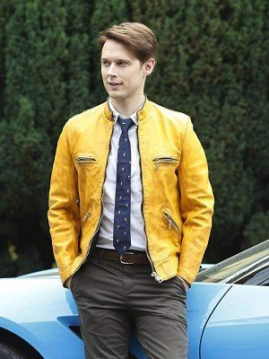 Dirk Gently Holistic Detective Yellow Leather Jacket