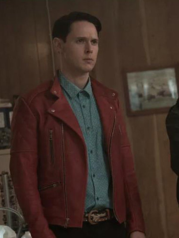 Dirk Gently Holistic Detective Red Leather Jacket
