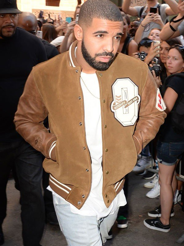Drake Suede Leather Varsity Jacket