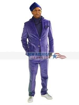 Glass Samuel L. Jackson Purple Corduroy Blazer